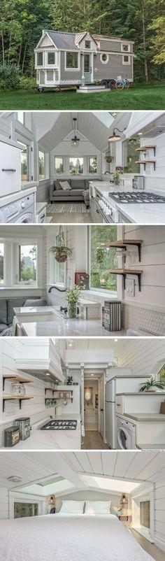 Best Tiny House, Tiny House Plans, Tiny House On Wheels, Micro House, Tyni House, Tiny House Living, Cottage House, Small Living, Farm House