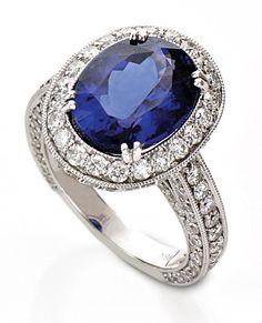 18kt Tanzanite & Diamond Ring at @Smyth Jewelers