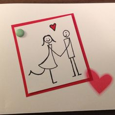 Wedding card- my more simple version! Outline, Wedding Cards, Birthday Cards, Creativity, Doodles, Diy Projects, Wedding Ideas, Eye, Simple