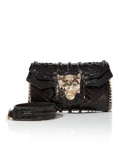 "Philipp Plein Shoulder Bag ""convenient"" In Black / Gold Diy Clutch, Lip Kit, New Bag, Slay, Panther, Black Gold, Purses And Bags, Shoulder Bags, Belt"