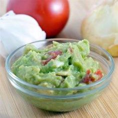A quick, simple recipe for a tasty guacamole with tomatoes. Serve with tortilla crisps for a festive party nibble. Guacamole Recipe Allrecipes, Guacamole Recipe Easy, Avocado Recipes, Mexican Food Recipes, Ethnic Recipes, Dip Recipes, Mexican Dinners, Vegan Recipes, Recipes