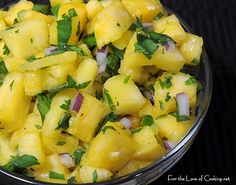 Pineapple Salsa! I just put in my cilantro in the herb garden and I can't wait to try this.