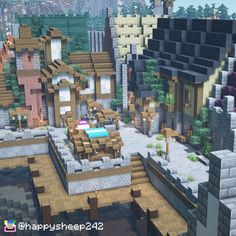 Minecraft Harbor-town of Arce Albus! A small, medieval seaport that i built in my long term survival world! Minecraft Garden, Minecraft Cottage, Minecraft Castle, Minecraft Plans, Minecraft Survival, Minecraft Crafts, Minecraft Houses, Minecraft Medieval Buildings, Minecraft Structures