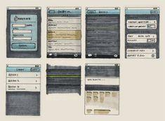 18 Great Examples of Sketched UI Wireframes and Mockups - Web Design Ledger Wireframe Mockup, Wireframe Design, Mobile Wireframe, Design Thinking, Motion Design, Web Design, Layout Design, Print Design, Graphic Design