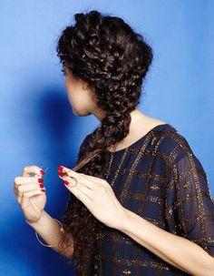 Coiffure cheveux bouclés longs automne-hiver 2016