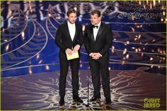 'Nice Guys' Ryan Gosling & Russell Crowe Present at Oscars 2016 - Watch Here!