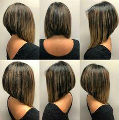 This year, girls have short haircuts, what are the latest hairstyles? Let's cut a short bob haircut. – Page 26 – Hairstyle Popular Short Hairstyles, Latest Hairstyles, Cool Hairstyles, Angled Bobs, Inverted Bob, Reverse Bob, Tomoyo Sakura, Thin Bangs, Short Bob Haircuts