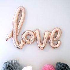 giant love script balloon by team hen | notonthehighstreet.com