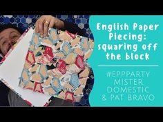 Learn 2 ways of how to square off your English Paper Piecing blocks made from non-square shapes. The first method teaches the how-to after the shapes have be. Feather Stitch, English Paper Piecing, Paper Goods, Textile Design, Party Time, Quilts, Youtube, Blog, Hexagons