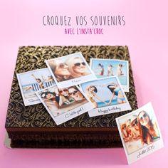 Insta'Croc, croquez vos meilleurs souvenir, en feuille sucre ou azyme pour décorer vos gâteaux Photos, Polaroid Film, Souvenir, Sugar, Pictures