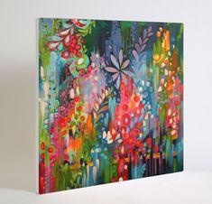 LUSH 36x36 acrylic on canvas stephaniecorfee.com