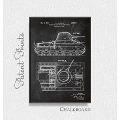 Insulated Military Tank 1945 Patent Print