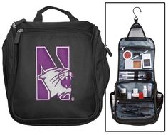 Northwestern Cosmetic Bag or NCAA Mens Shaving Kit - Travel Bag