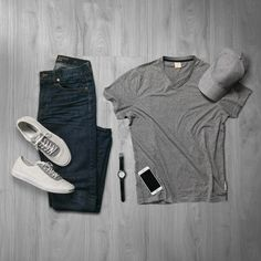 Shop this Outfit: Tee: The Perfect V-Neck Tee, King and Fifth Denim: Slim Fit Jeans, AEO Sneakers (alternative): Jack Purcell, Converse Hat: Baseball Cap, NN07 Shop this Outfit: Tee: V-Neck, Americ…