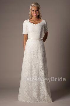 Austen Modest Wedding Dress Latter Day Bride & Prom Gateway Bridal