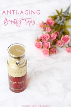 Anti-Aging Beauty Tips: Lifestyle Changes You Can Make to Combat Aging #DoubleSerum #NextGenSerum #ad @clarinsusa
