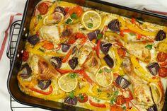 Ovenschotel met kip en paprika