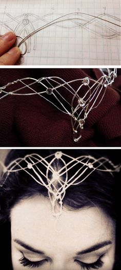 DIY Elvish Crown Tutorial from Rachel Ann Poling.This is a 2 part tutorial for…