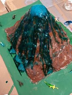 how to make a volcano out of paper