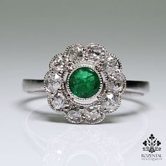 http://rubies.work/0439-sapphire-ring/ 0301-sapphire-ring/ Antique Edwardian Platinum Diamond & Emerald Ring