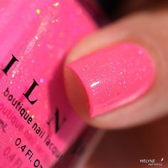 Glowing swatch of our Summer 2015 shade Summer Crush by @melynenailart!  #ILNPSummerCrush