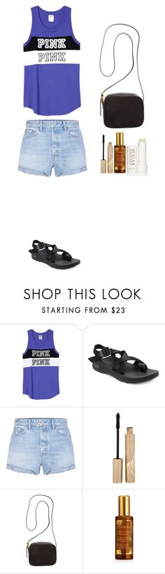 """""""Style #338"""" by maksimchuk-vika ❤ liked on Polyvore featuring Victoria's Secret PINK, Chaco, GRLFRND, Stila, The Row, By Terry and Fresh"""