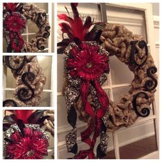 USC gamecock burlap wreath by LaDeTash on Etsy, $75.00  Custom Collegiate orders available!