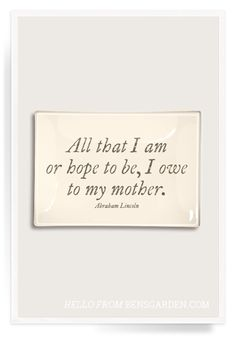 All That I Am Découpage Glass Tray