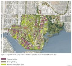 The University of Washington's long-term vision for infill and redevelopment of the main campus. (University of Washington)