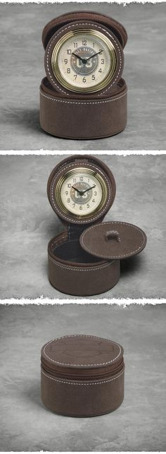 The perfect gift for the guy on the go. Unlike electronics, the vintage alarm clock doesn't need to be charged, or even plugged in. | Harley-Davidson Men's Vintage Travel Alarm Clock