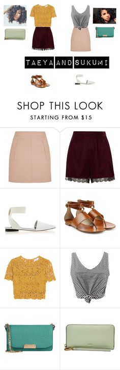 """""""Sisters on a mall date"""" by ghudgirl ❤ liked on Polyvore featuring Topshop, River Island, Senso, Michael Kors, Miguelina, WithChic and Burberry"""