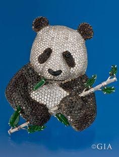 Panda in black and white diamonds. Courtesy of Ricardo Basta.