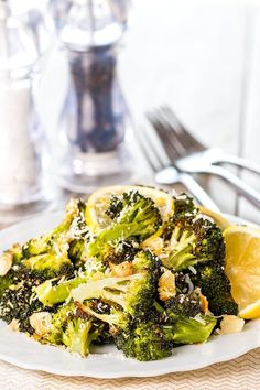 This easy recipe makes crispy, delicious roasted Broccoli. A Keto friendly side dish for any dinner!