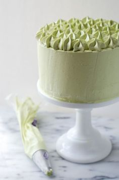 Dark Chocolate Matcha Layer Cake | The Cake Merchant