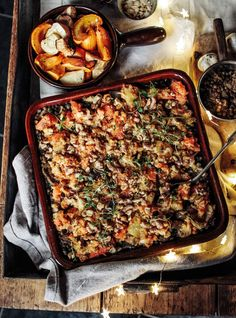 The Ultimate Winter Lentil & Roast Veg Bake - Rebel Recipes - We've been spending Christmas in Spain for the last few years and I love the crisp mountain air, - Veg Recipes, Whole Food Recipes, Cooking Recipes, Healthy Recipes, Puy Lentil Recipes, Dinner Recipes, Curry, Kebabs, Winter Food