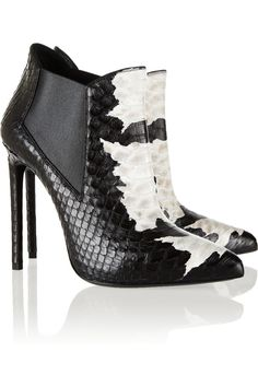 'paris' bootie saint laurent net-a-porter