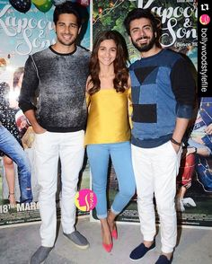 #Repost @bollywoodstylefile  The Kapoor And Sons trio for the recent promotions. @BOLLYWOODSTYLEFILE  . ##bollywoodstylefile #bollywood #stylefile #india #indian #indianfashion #indianstyle #bollywoodstyle #delhi #mumbai #bollywoodactress #bollywoodfashion #mbcbollywood #kapoorandsons #aliabhatt #ibaliabhatt #sidharthmalhotra #fawadkhan @BOLLYWOODREPORT  . For more follow #BollywoodScope and visit http://bit.ly/1pb34Kz
