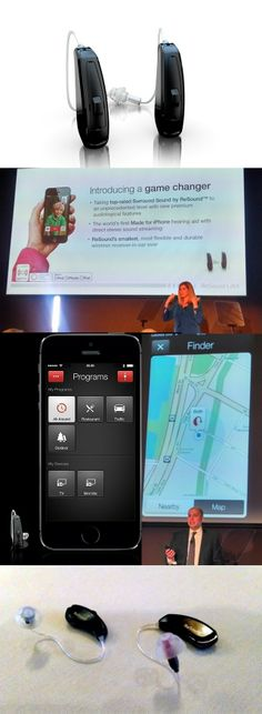 The @ReSound LiNX, billed as the world's smartest hearing aid, is the first with Bluetooth Smart low-power wireless technology. It can stream phone calls and music in full stereo from an Apple iPhone, iPad or iPod touch. An app lets you control volume, treble/bass and tweak its Surround Sound audio processing technology to fit the setting, like a restaurant. If you lose the LiNX, the app can find it--a map shows the last known location. The $2,500-$3,500 unit is sold only by audiologists.