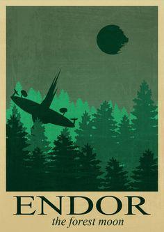 Poster by style star wars Star wars poster art Retro от HelenPrint