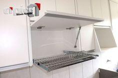 Sugestão para escorredor de armário de cozinha. #cozinha #armário