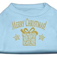 Golden Christmas Present Dog Shirt Baby Blue Lg (14)