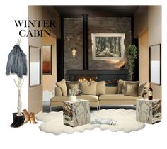 """""""Cozy Cabin Style"""" by neicy-i ❤ liked on Polyvore featuring interior, interiors, interior design, home, home decor, interior decorating, Home Decorators Collection, Blu Dot, Sandro and Nearly Natural"""
