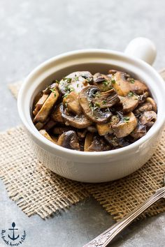 These Marsala Mushrooms are succulent and savory and couldn't be simpler! Perfect with burgers, chicken, omelettes or even served as…