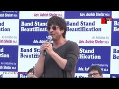 Shahrukh Khan at the launch of Band Stand Beautification Initiative