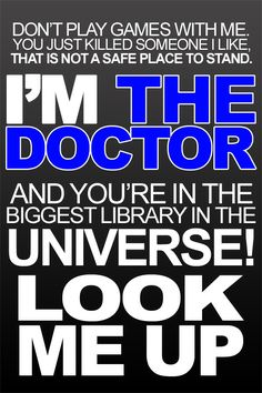 """- The Doctor, """"Forest of the Dead"""""""