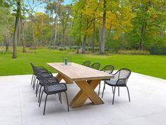 Een tuinset met een stijlvol karakter met moderne en strakke eigenschappen. Zoek jij nog inspiratie voor jouw tuin! Bekijk onze tuinmeubelen. Outdoor Tables, Outdoor Decor, Teak, Outdoor Living, Anna, Lounge, Outdoor Furniture, Garden, Modern
