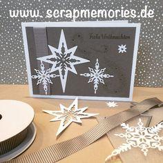 Home - Scrapmemories | Basteln in Ingolstadt | Stampin up, Stampinup, Big Shot, Framelits, Sternenzauber, Stempelset Weihnachtsstern, Weihnachtskarte, Glückwunschkarte, Gutscheinkarte, Diy, Designerpapier, Taupe, Winterkatalog2016