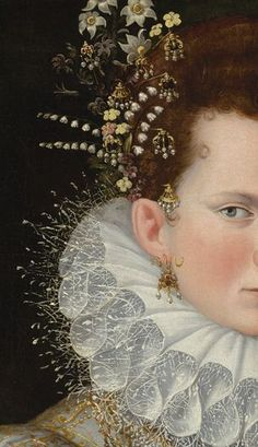 Detail from 'Portrait of a Lady of the Court' … Artist: Lavinia Fontana. Completion Date: 1590. Style: Mannerism (Late Renaissance).