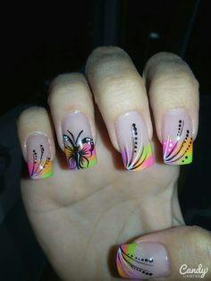 Toe Nail Designs, Nail Polish Designs, Pretty Nail Art, Beautiful Nail Art, Spring Nail Art, Spring Nails, Nail Art Diy, Easy Nail Art, Get Nails