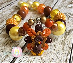 Thanksgiving Necklace Turkey Necklace Ready by ZallistasBowtique